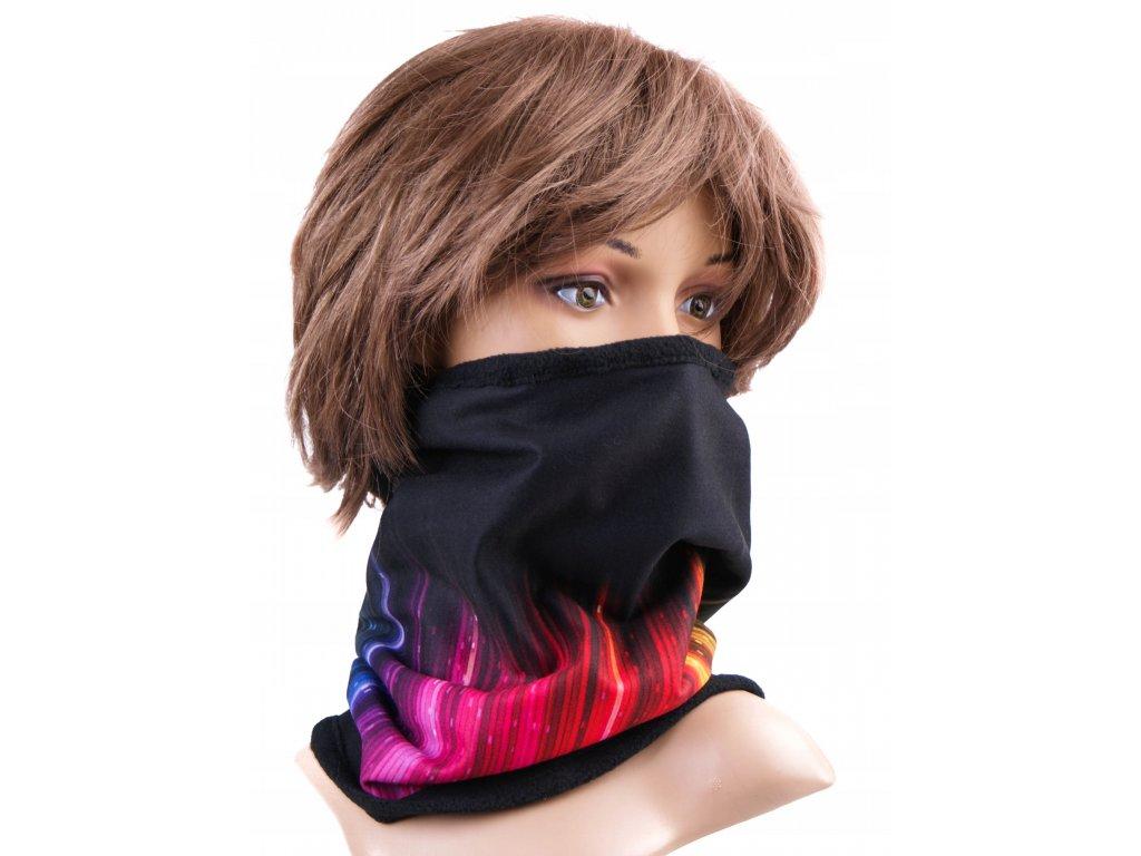 Multifunkční stylový šál - komín 02 - 31x26 cm, colors, Mybesthome