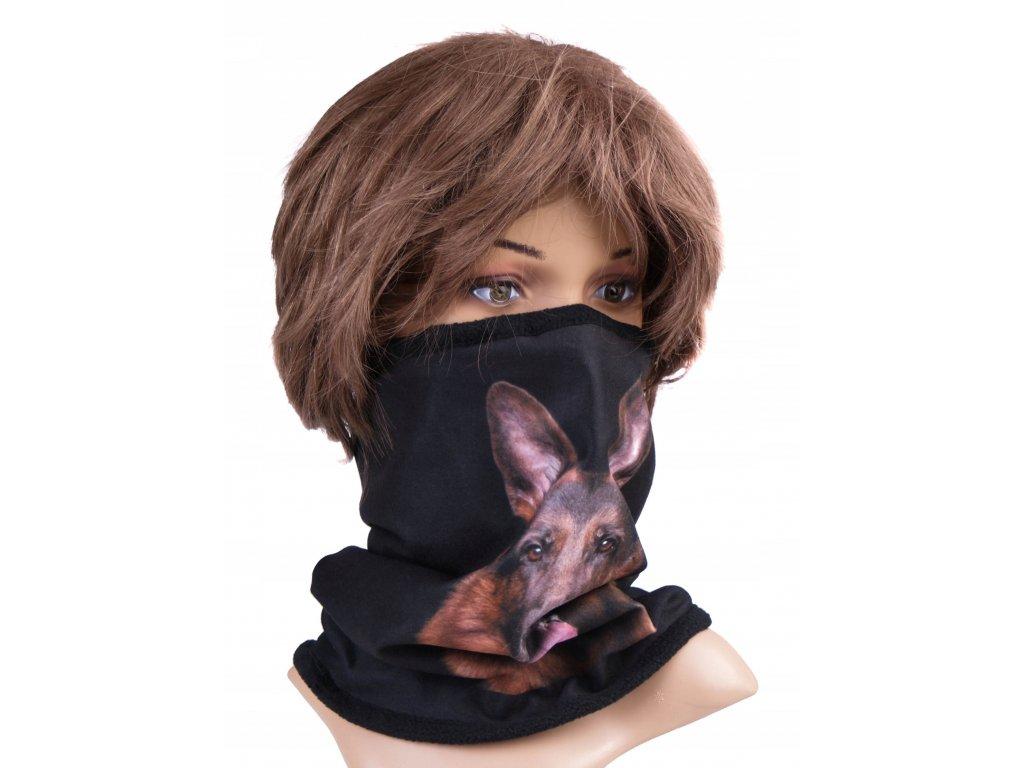 Multifunkční stylový šál - komín 05 - 31x26 cm, DOG, Mybesthome