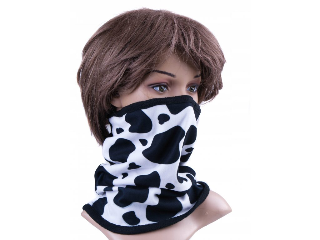 Multifunkční stylový šál - komín 17 - 31x26 cm, BLACK AND WHITE, Mybesthome