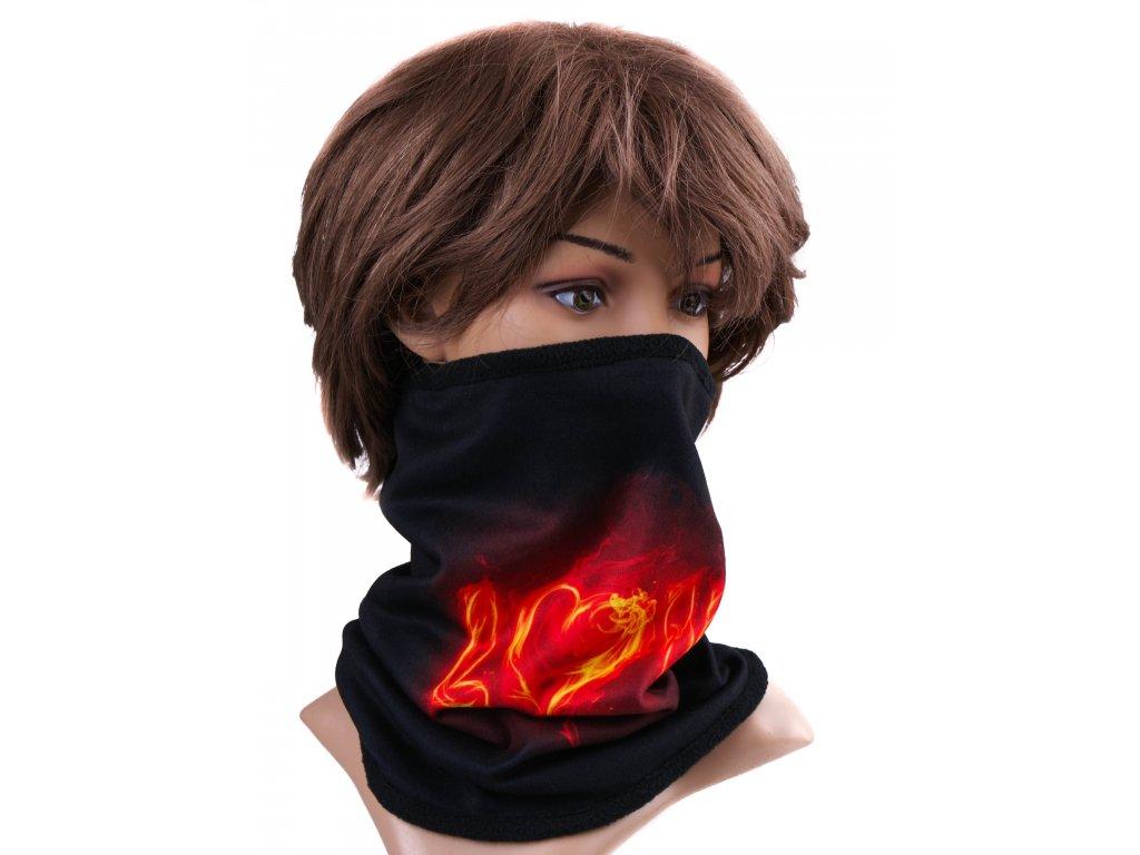 Multifunkční stylový šál - komín 21 - 31x26 cm, LOVE, Mybesthome