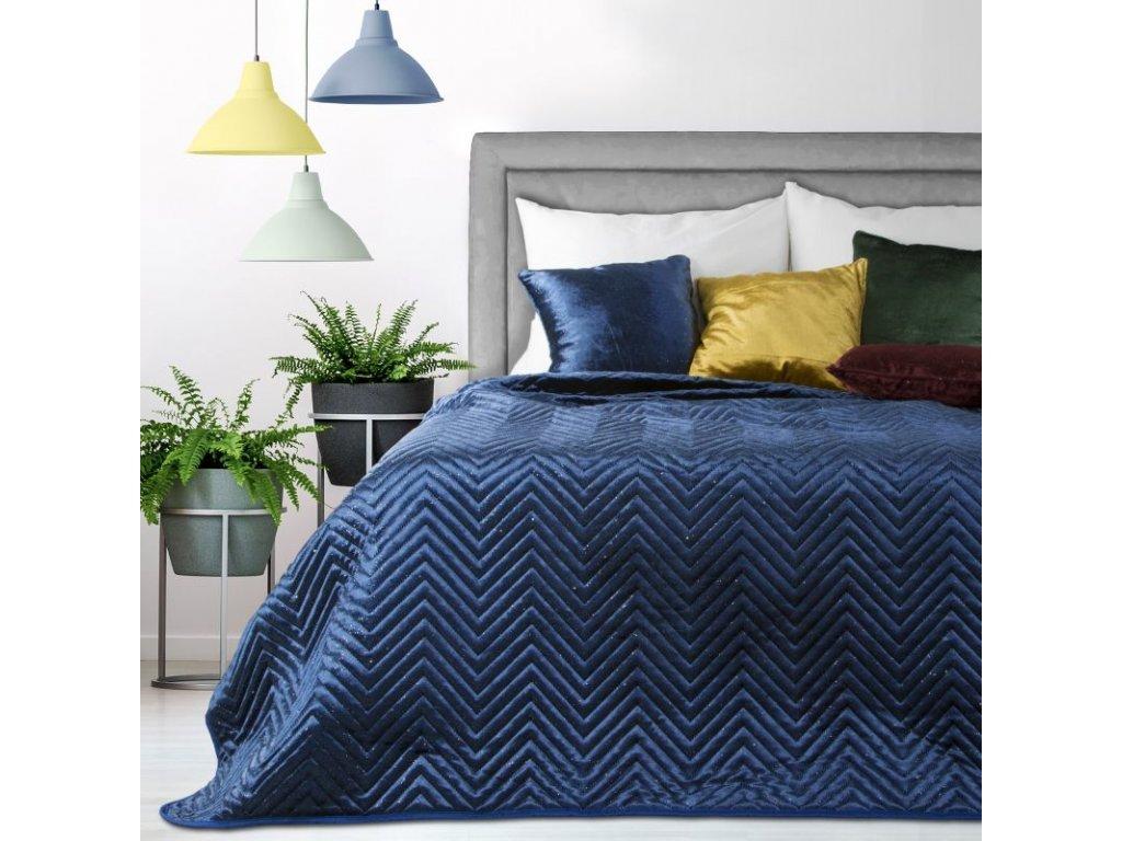 Přehoz na postel LUXURY 220x240 cm modrá Mybesthome