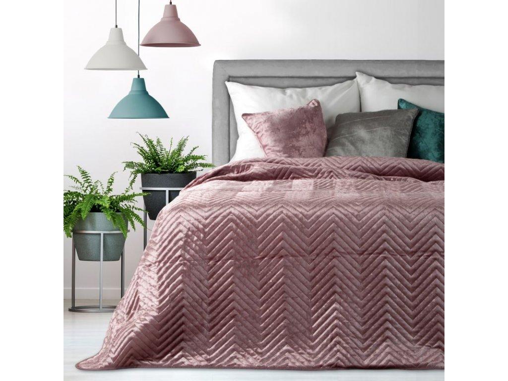 Přehoz na postel LUXURY 220x240 cm růžová Mybesthome
