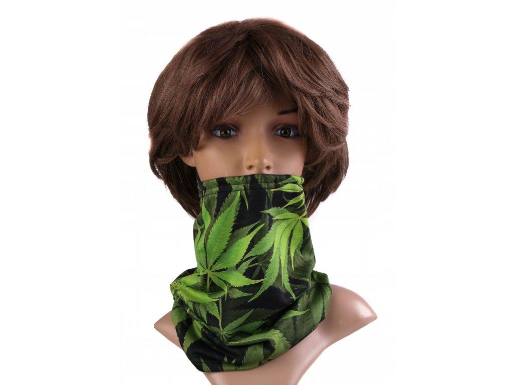 Multifunkční stylový šál - komín 17 - 31x26 cm, GREEN, Mybesthome
