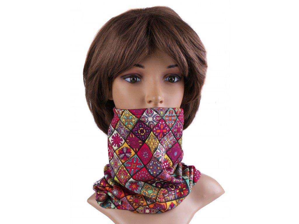 Multifunkční stylový šál - komín 22 - 31x26 cm, VINTAGE, Mybesthome