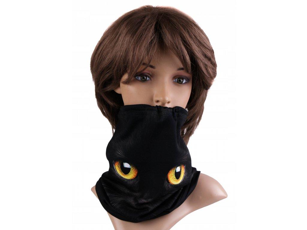 Multifunkční stylový šál - komín 26 - 31x26 cm, CAT, Mybesthome