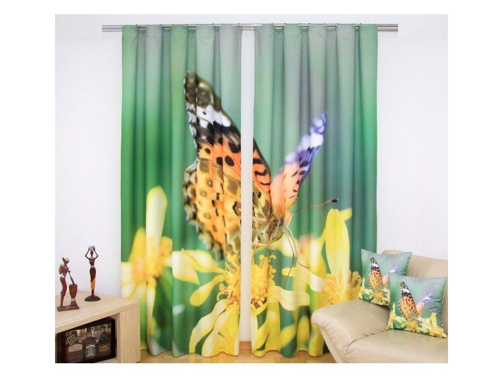 3D dekorační závěs 47 MOTÝL 160x250 cm MyBestHome