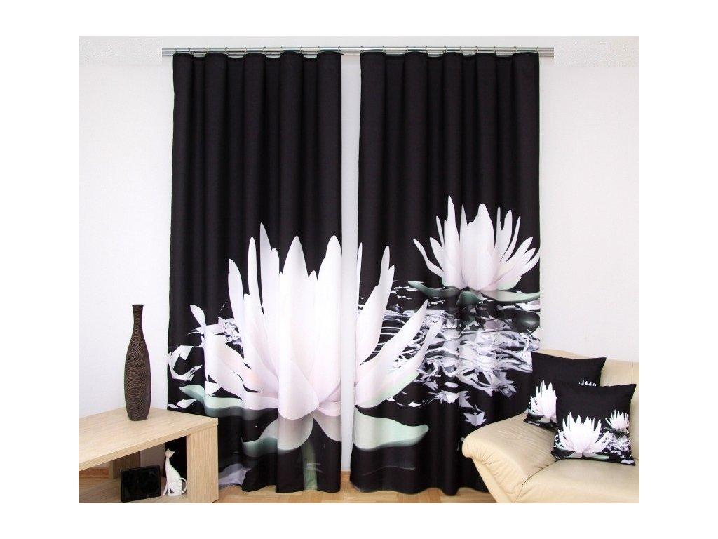 3D dekorační závěs 77 LEKNÍN BW 160x250 cm MyBestHome