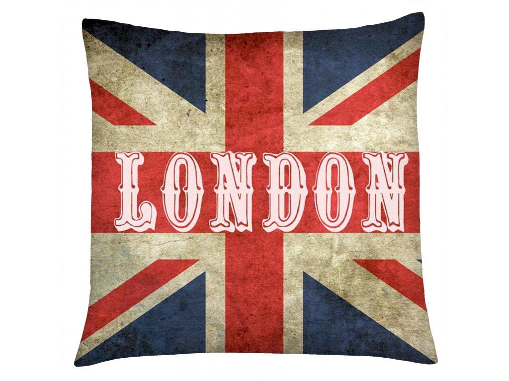 Polštář HDR LONDON Mybesthome 40x40 cm