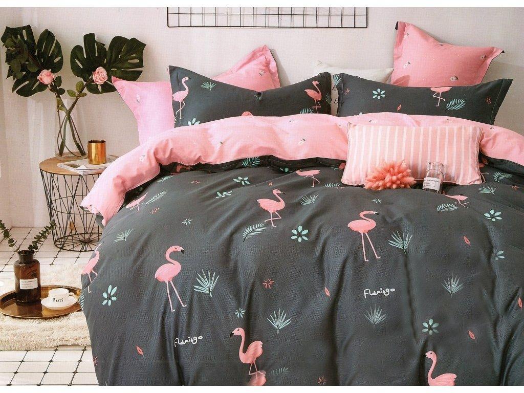 Povlečení FLAMIS 100% saténová bavlna 1x 200x220 cm, 2x povlak 70x80 cm francouzské povlečení MyBestHome