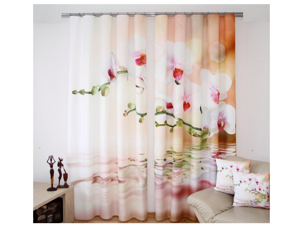 3D dekorační závěs 33 ORCHIDEJ 160x250 cm MyBestHome