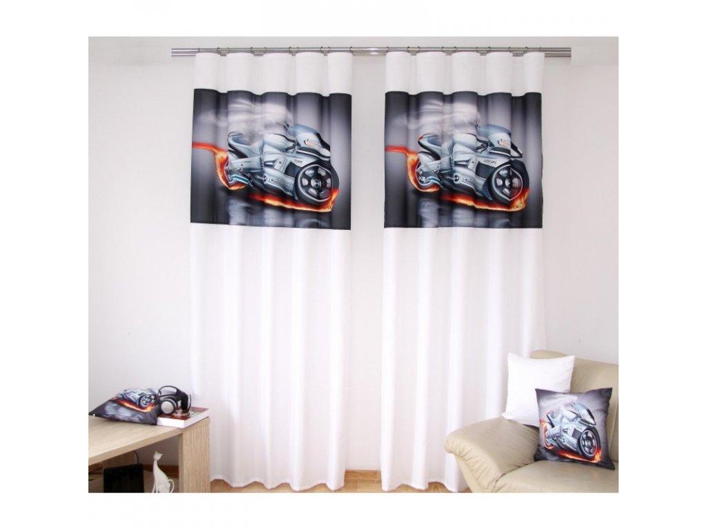 3D dekorační závěs 132 MOTORKA 02 160x250 cm MyBestHome