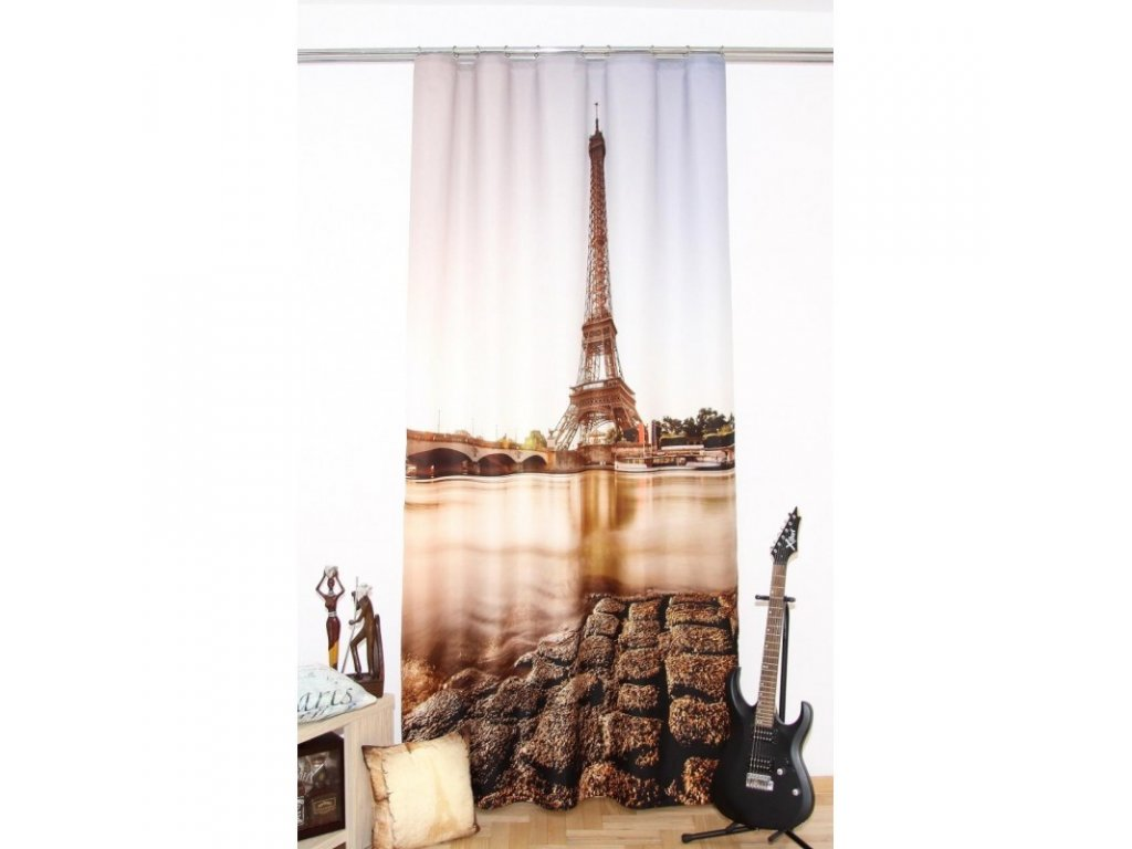 3D dekorační závěs 203 PAŘÍŽ 160x250 cm MyBestHome