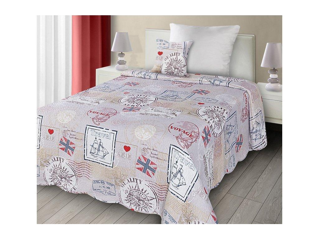 e2f7fc3f99af Kvalitní dětský oboustranný přehoz na postel s dětským moderním ...