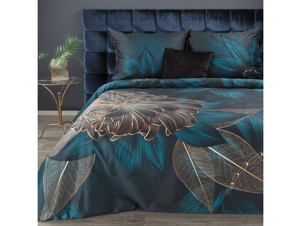 Povlečení BENICIO 100% saténová bavlna 1x 200x220 cm, 2x povlak 70x80 cm francouzské povlečení MyBestHome