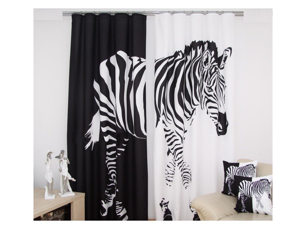 3D dekorační závěs 40 ZEBRA 160x250 cm MyBestHome