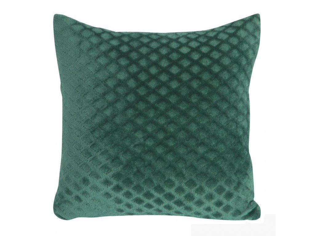 Polštář BELLA mikrovlákno zelená Mybesthome 40x40 cm