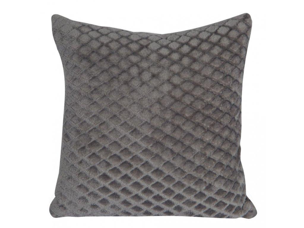 Polštář BELLA mikrovlákno šedá Mybesthome 40x40 cm