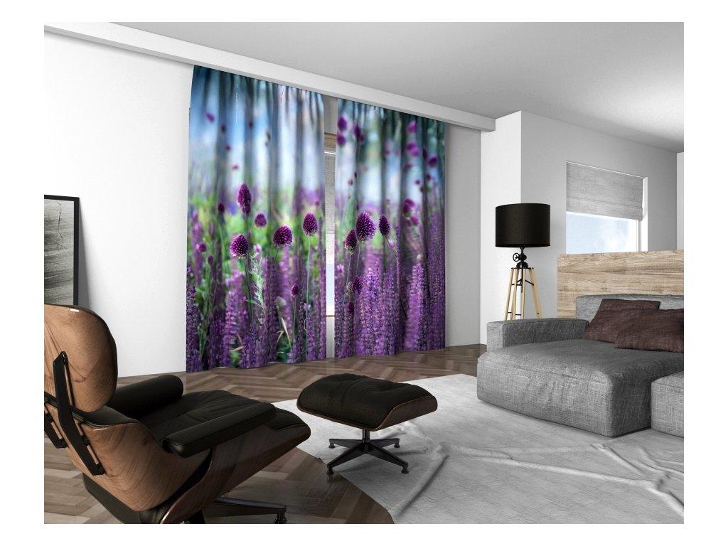 3D dekorační závěs 211V GARLIC FIELD 160x250 cm set 2 kusy MyBestHome