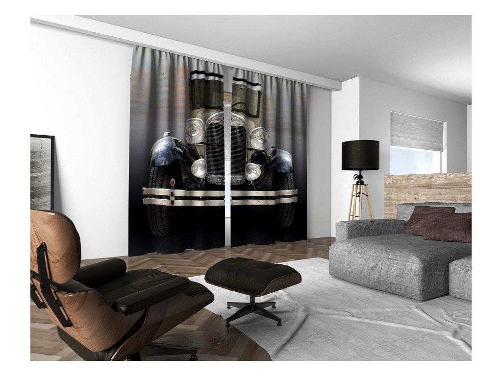 3D dekorační závěs 212V OLDTIMER 160x250 cm set 2 kusy MyBestHome