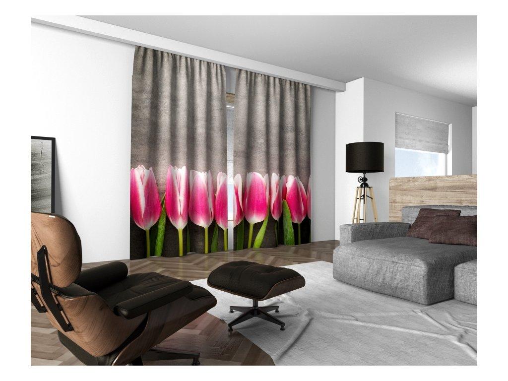 3D dekorační závěs 214V TULIPS 160x250 cm set 2 kusy MyBestHome