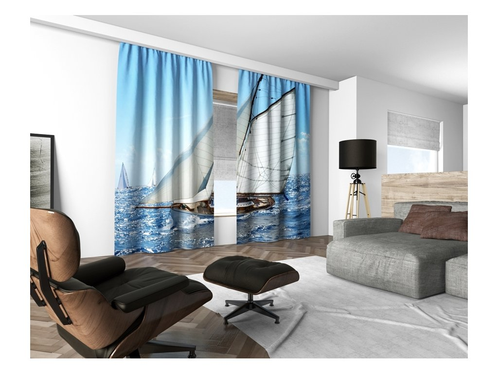 3D dekorační závěs 109V SAIL BOARD 160x250 cm set 2 kusy MyBestHome