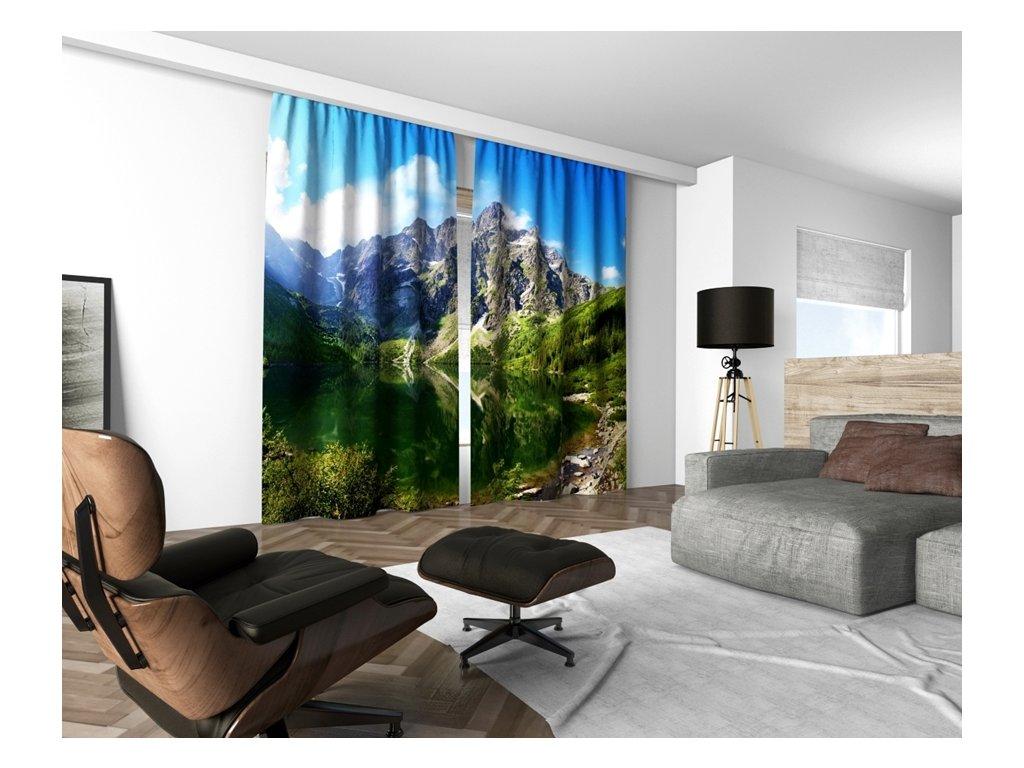 3D dekorační závěs 127V MOUNTAINS 160x250 cm set 2 kusy MyBestHome