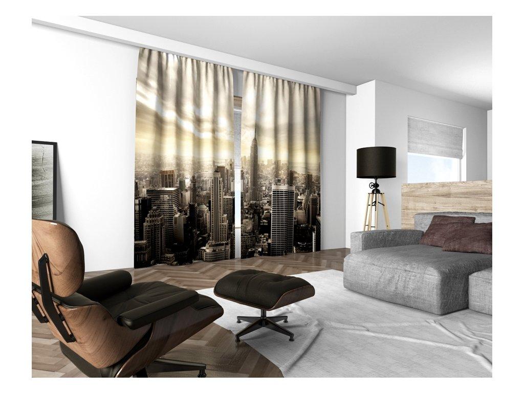 3D dekorační závěs 202V NEW YORK 160x250 cm set 2 kusy MyBestHome