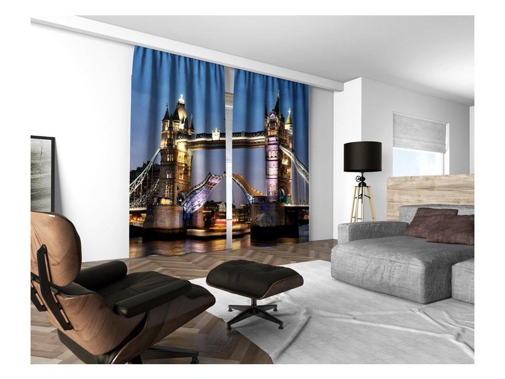 3D dekorační závěs 205V TOWER BRIDGE 160x250 cm set 2 kusy MyBestHome