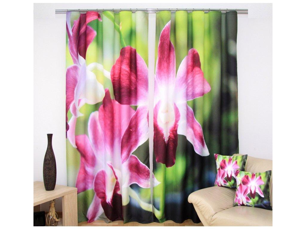 3D dekorační závěs 35 ORCHIDEJE 160x250 cm MyBestHome