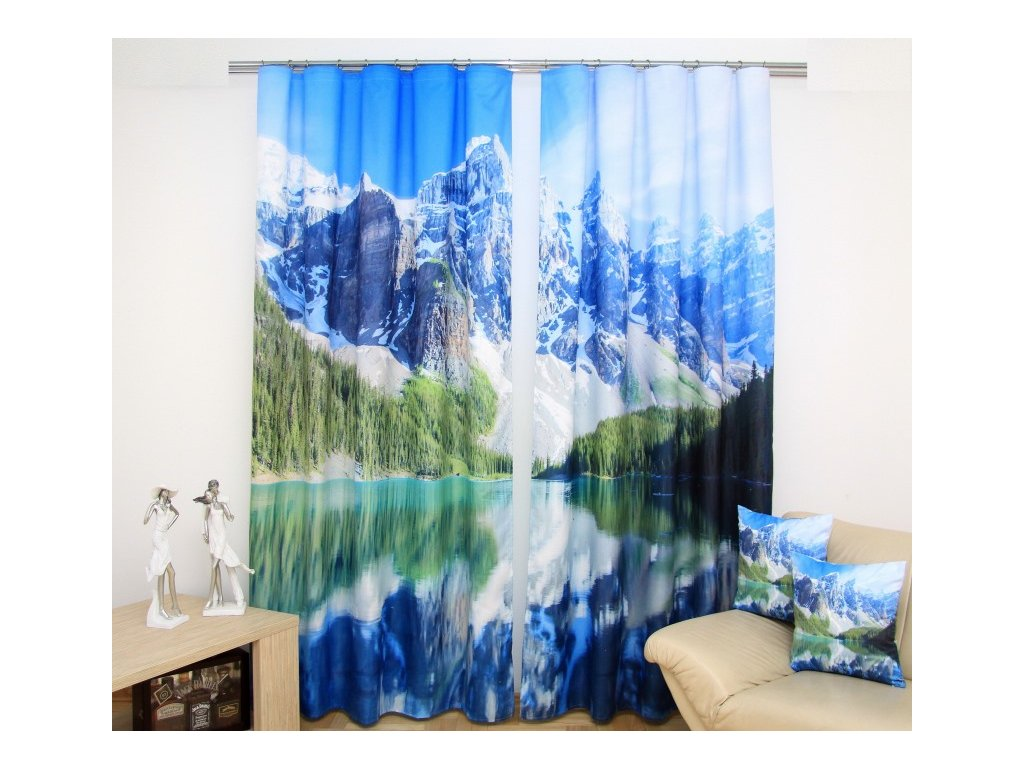 3D dekorační závěs 61 MOUNTAINS 160x250 cm MyBestHome