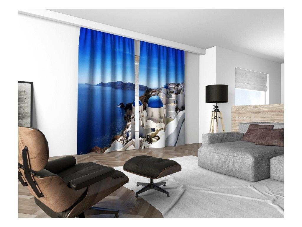 3D dekorační závěs 301V GREECE 160x250 cm set 2 kusy MyBestHome
