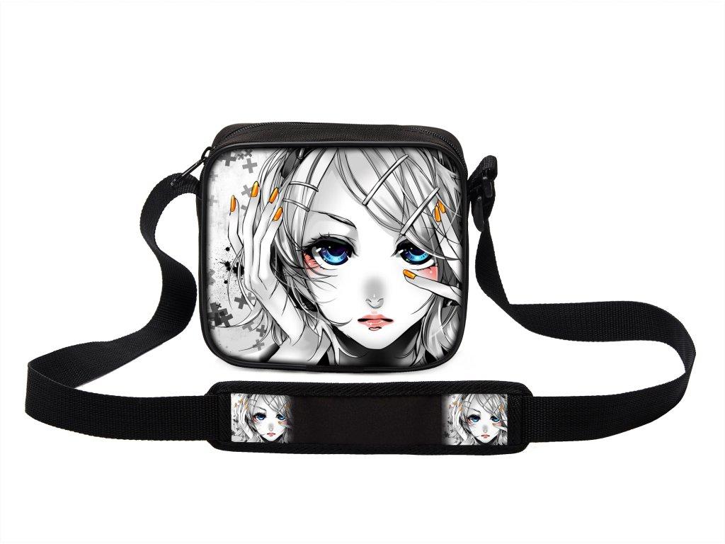 Taška přes rameno MINI svět manga anime 03 MyBestHome 19x17x6 cm