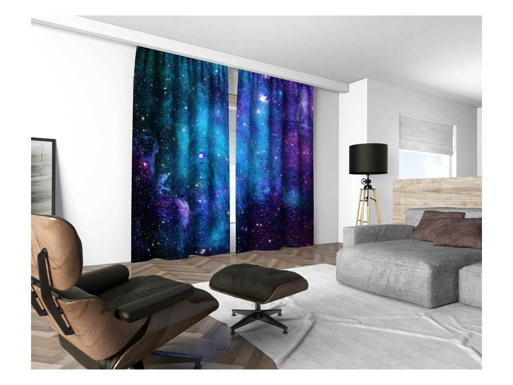 3D dekorační závěs 308V NEBULA 02 160x250 cm set 2 kusy MyBestHome