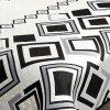 Přehoz na postel SAULO 220x240 cm krémová/černá Mybesthome