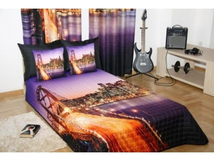 Přehoz na postel GOLDEN BRIDGE 160x200 cm Mybesthome