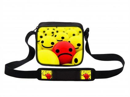 Taška přes rameno MINI Red Smiley MyBestHome 19x17x6 cm