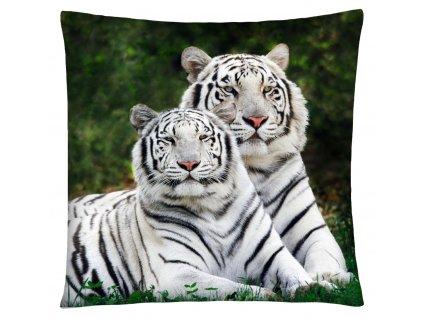 Polštář s motivem bílého tygra Mybesthome 40x40 cm