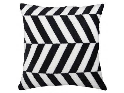 Polštář BLACK AND WHITE motiv A Essex 40x40cm, mikrovlákno geometrický vzor