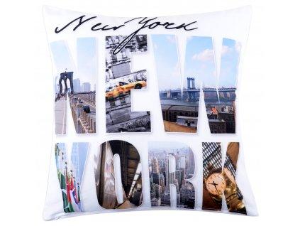 Polštář NEW YORK MyBestHome 40x40cm fototisk motiv New Yorku