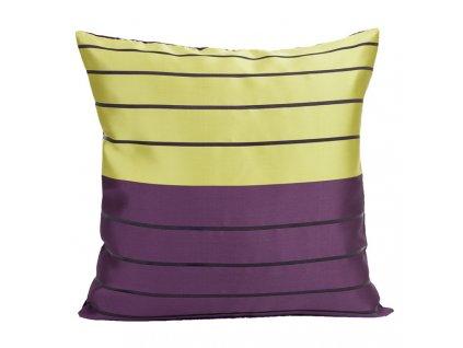 Polštář MODERN fialová/žlutá 40x40cm Mybesthome