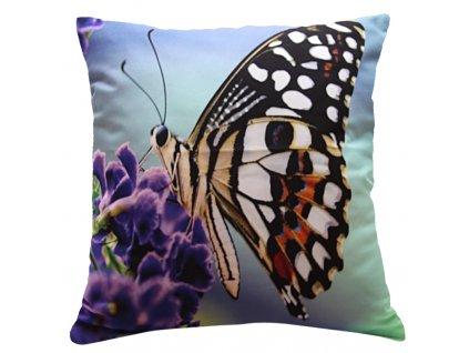 Polštář MOTÝL 02 MyBestHome 40x40cm fototisk 3D motiv motýla
