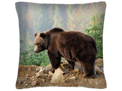 Polštář animal 14 - MEDVĚD Mybesthome 40x40 cm
