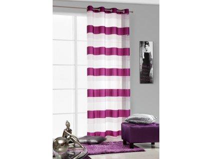 Dekorační záclona AMARANTHA růžová/bílá 140x250 cm MyBestHome