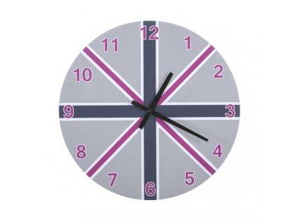 Nástěnné hodiny PINK 40x40x4 cm Mybesthome