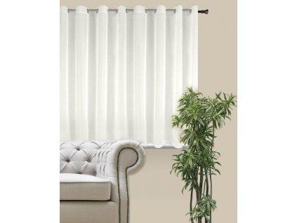 Dekorační krátká záclona s kroužky DIANA smetanová 290x160 cm MyBestHome