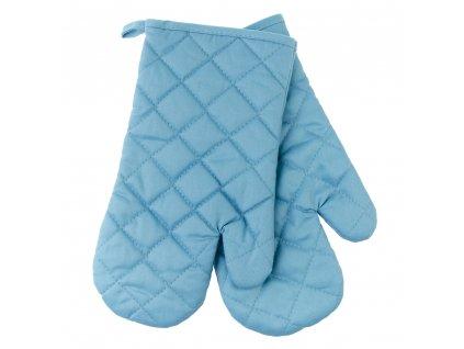 Kuchyňské bavlněné rukavice chňapky MULTICOLOR modrá, 100% bavlna 18x30 cm Essex