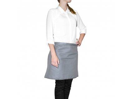 Kuchyňská bavlněná zástěra do pasu MULTICOLOR šedá, 45x65 cm, Essex, 100% bavlna