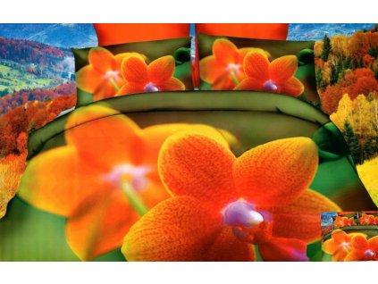 Povlečení 3D KVĚTY 01 set 3 ks, 140x200 cm, 2x povlak 70x80 cm MyBestHome
