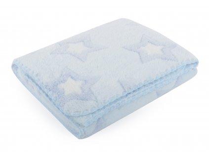 Dětská deka s hvězdičkami DORA modrá 80x90 cm Mybesthome