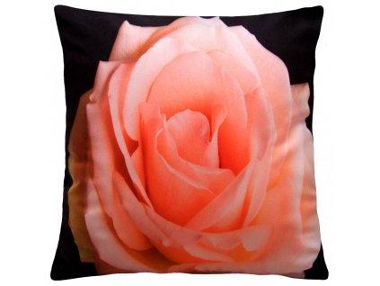Polštář OLD ROSE MyBestHome, 40x40cm fototisk 3D motiv růže